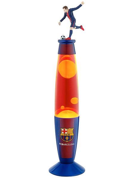 Näyttävä FC Barcelona -laavalamppu luo jalkapallofanin huoneeseen sporttista tunnelmaa. Lampun korkeus 35 cm. Ikäsuositus 5+
