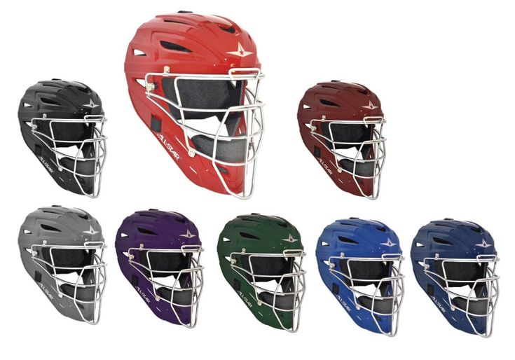 Youth System Seven Catcher's Head Gear / Helmet from All-Star: High impact resistant ABS shellI-bar… #Sport #Football #Rugby #IceHockey
