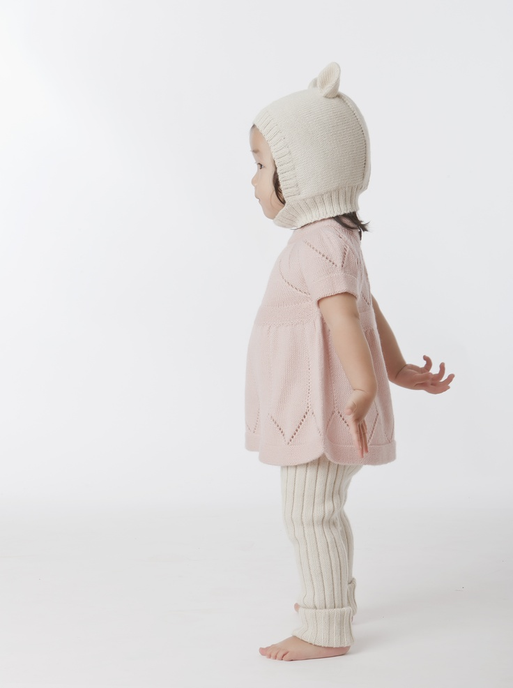 Children's knitted animal hat and leggings - Oeuf