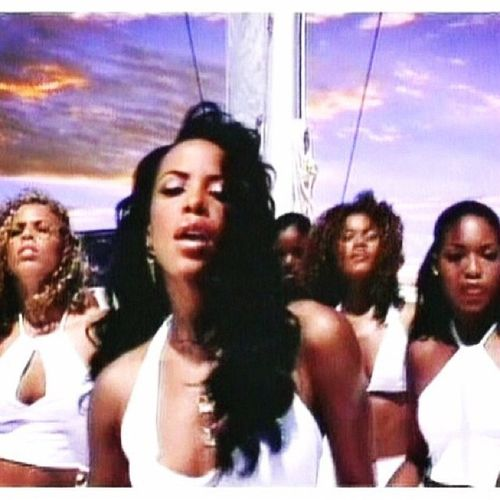 "An edited still from Aaliyah's ""Rock The Boat"""