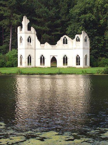 amazing garden folly from Claremont Gardens, a national trust garden in Surrey