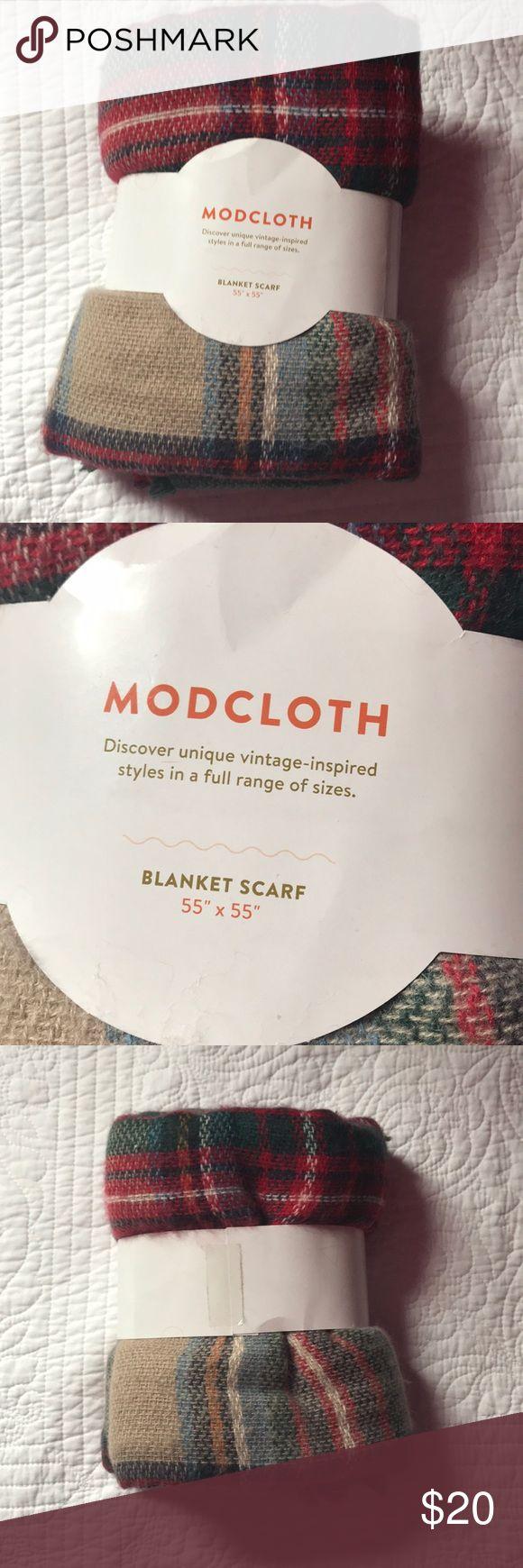 ModCloth blanket scarf. NEW Brand new. ModCloth. Smoke free. Pet friendly Modcloth Accessories Scarves & Wraps