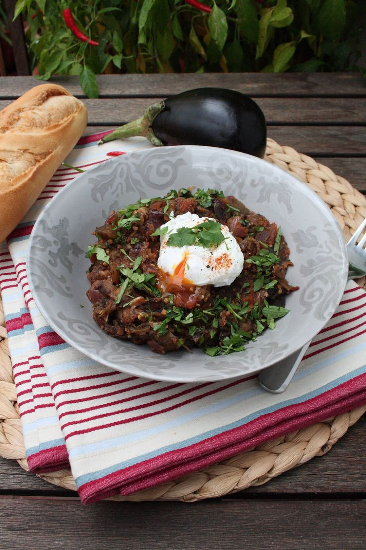 Tunisian Aubergine *leave out the egg for vegan version