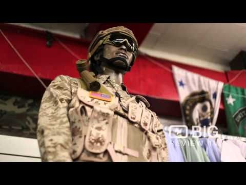 Uncle Sam's Navy Outfitters a Surplus Store in New York offering Army Surplus - YouTube