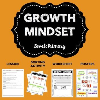 Growth Mindset is a concept that is beneficial to be used throughout the year!  Whether it's gearing up for the start of a new school year, preparing for tests, boosting self-esteem and/or tackling tough transitions. This Primary Growth Mindset product includes:-Primary Growth Mindset lesson plan (includes ASCA standards)-Primary Growth Mindset Sorting Activity-Primary Growth Mindset Worksheet-10 Growth Mindset Posters (5 color and 5 black/white)This product can be used in a variety of…