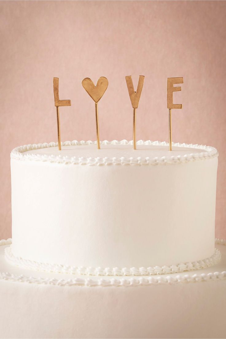 L-O-V-E Cake Topper from BHLDN