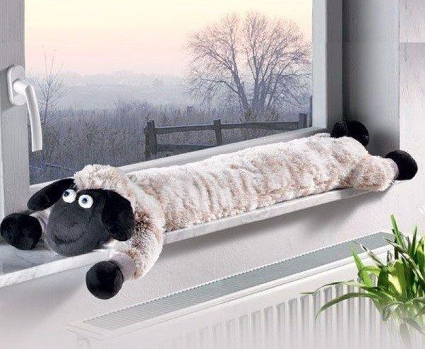 almohadas de protección contra corrientes de aire