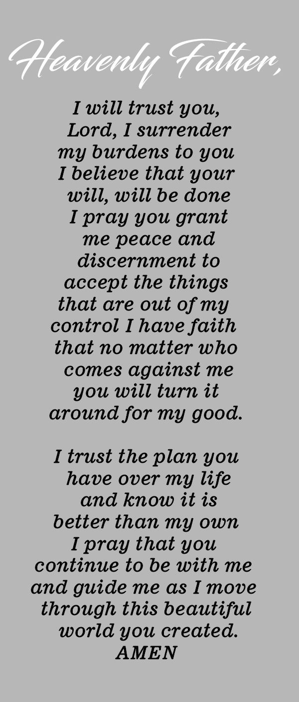 Prayer to Affirm Your Trust in God – Mary Anzovino