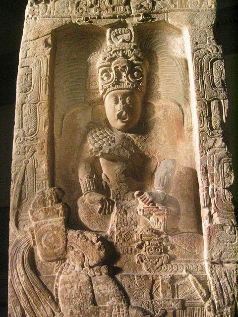 Estela 14 de Piedras Negras, período clásico