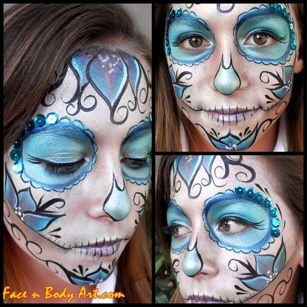 Shawna D. Make-up: Sugar skull or Dia de Los Muertos makeup