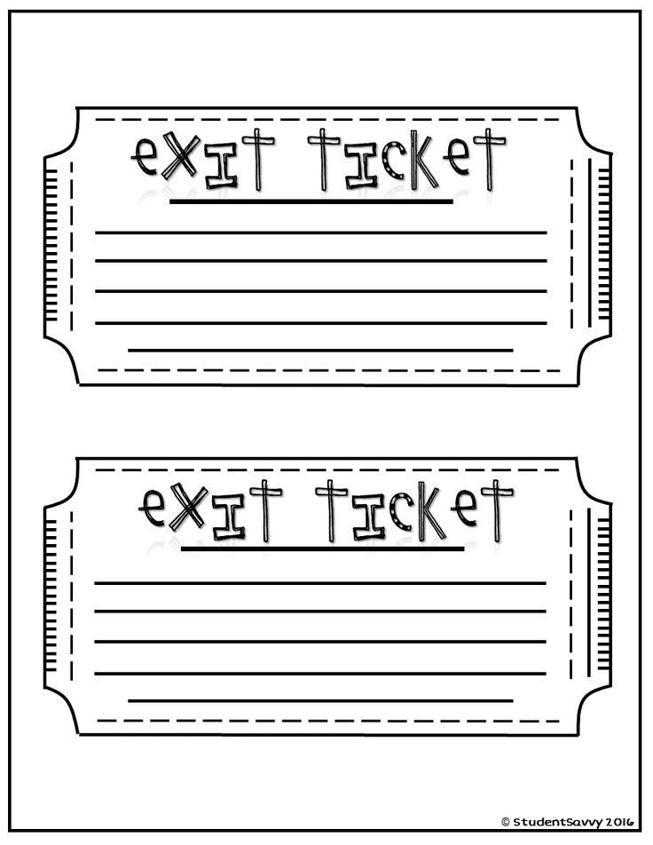 Exit Tickets – Free