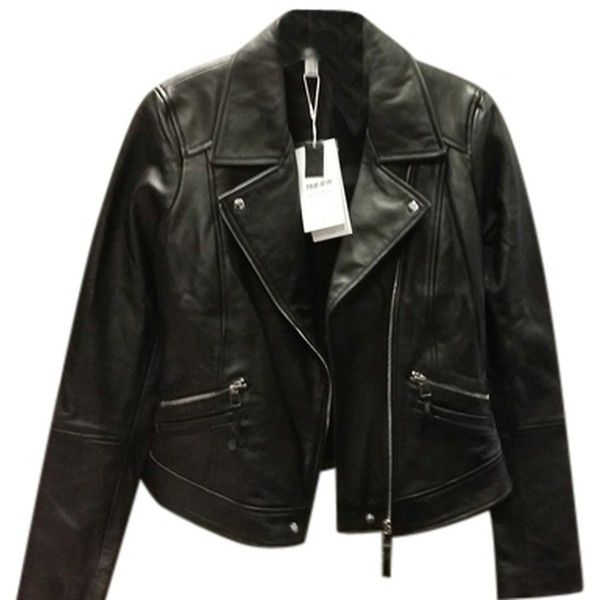 Pre-owned Zara Trafaluc Leather Jacket (770 GTQ) ❤ liked on Polyvore featuring outerwear, jackets, casacos, clothing - outerwear, black, leather jackets, zara jackets, 100 leather jacket, genuine leather jackets and real leather jackets