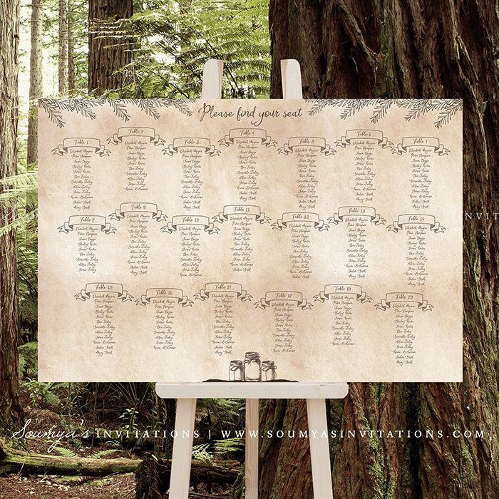 zazzle wedding invitations promo code%0A Mason Jar Wedding Seating Chart  Antique Enchanted Forest Wedding Seating  Chart Plan Poster  Woodland