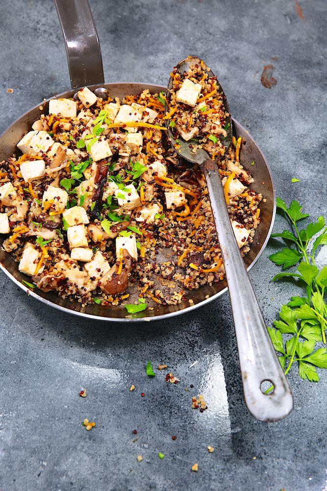 Saveurs Végétales: ► Poelée de quinoa sauté au tofu, légumes & 5 épices