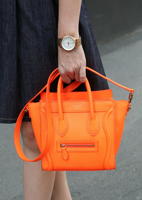 Orange Celine Bag--my next purchase will be a celine bag