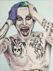 joker jared leto painting suicide squad Acrylic Painting