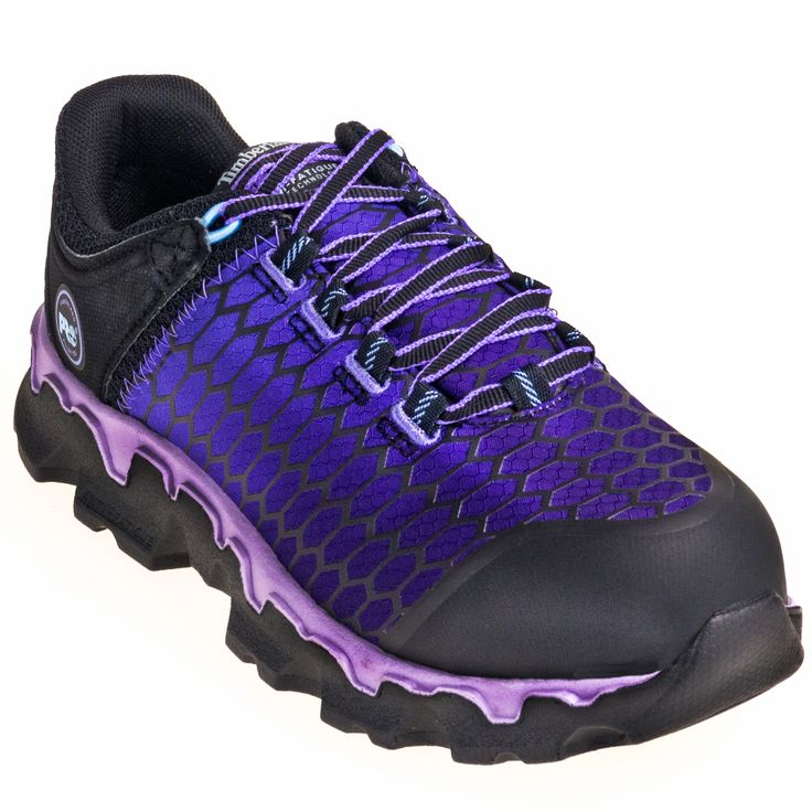 Timberland Pro Boots Women's TB0A1H1S 001 Alloy Toe ESD Athletic Purple Powertrain Sport Work Shoes