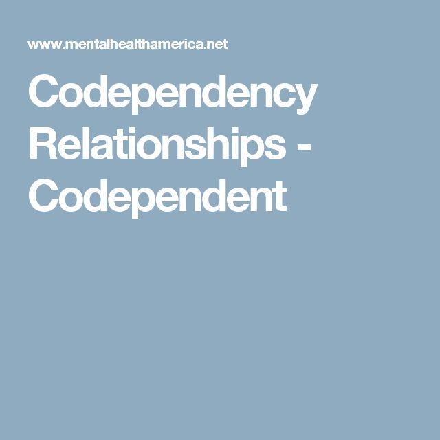 Dating codependent man