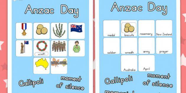 Australia - Anzac Day Vocab Poster