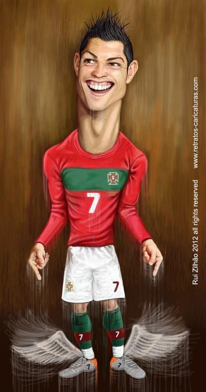 Caricatura - Cristiano Ronaldo by Rui Zilhão 2012