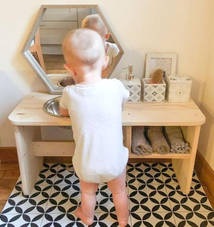 Montessori wash basin, Washbasin for children, Washbasin ...