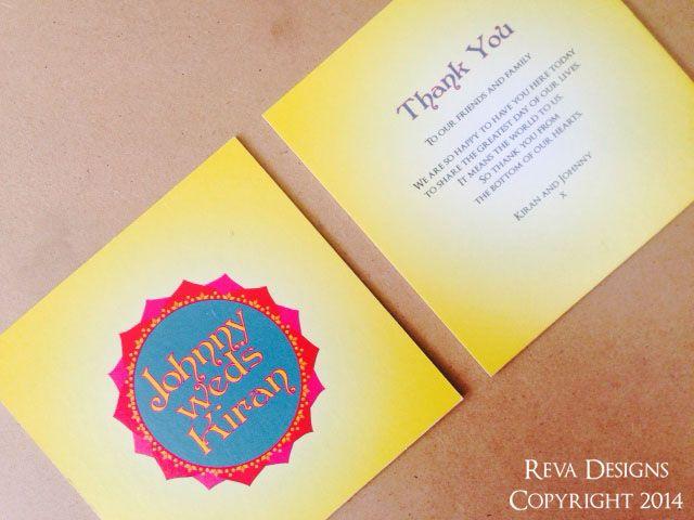Bollywood inspired wedding invitation