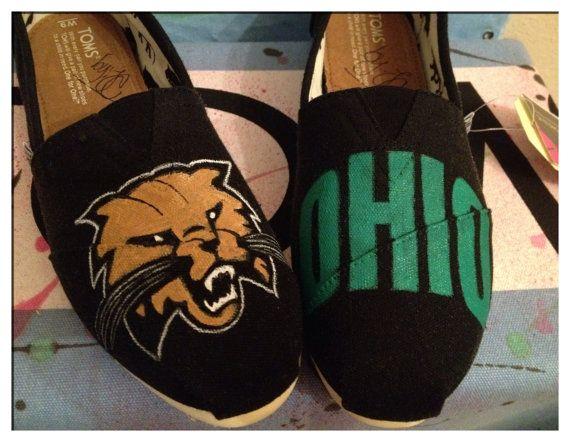 Ohio University Bobcats Toms Shoes by CustomTOMSbyJC on Etsy, $100.00