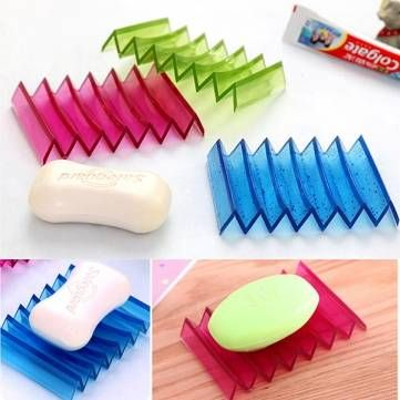 Multifunction Wave Shape Foldable Bathroom Soap Dish Bath Sponge Holder at Banggood