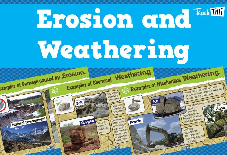 Students will learn about various types of weathering and about the damages caused by erosion.