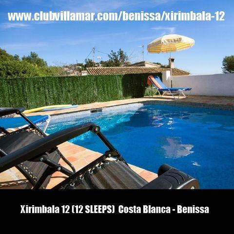 Xirimbala 12 (12 SLEEPS)  Costa Blanca - Benissa