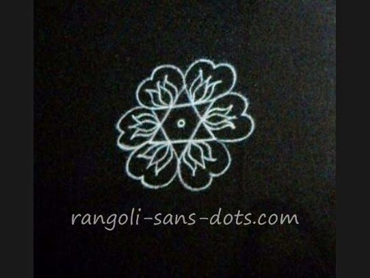 star lotus combination in a rangoli