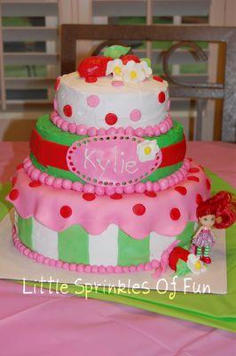Strawberry shortcake layer cake - for birthday or tea party fun