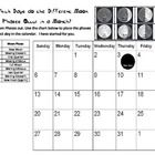 Moon Phase Calendar Cut and Paste Practice- how long is ...