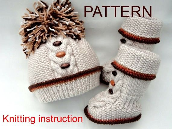 1.P A T T E R N Knitting Baby Set Baby Shoes Knitted Baby Hat Pattern Baby Booties Baby Boy Baby Girl Pattern ( PDF file )