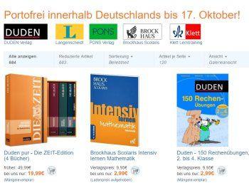 Terrashop: Bildungs-Bücher von Duden & Co. ab 1,99 Euro frei Haus https://www.discountfan.de/artikel/lesen_und_probe-abos/terrashop-bildungs-buecher-von-duden-co-ab-1-99-euro-frei-haus.php Ab sofort und nur bis Montag nächster Woche sind bei Terrashop über 500 reduzierte Bücher zum Thema Schule, Lernhilfen, Sprachen lernen und Bildung mit Gratis-Versand zu haben. Mit dabei sind Duden, Brockhaus, Pons und Langenscheidt. Terrashop: Bildungs-Bücher von Duden & Co. ab