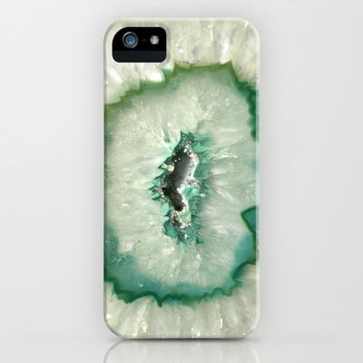 Agate Crystal Mint iPhone & iPod Case by BrooklynThread - $35.00