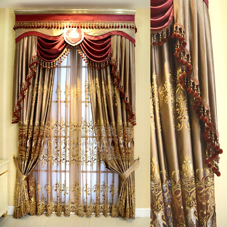 Luxury window curtain - Embroidered Extreme $150  (60% off)