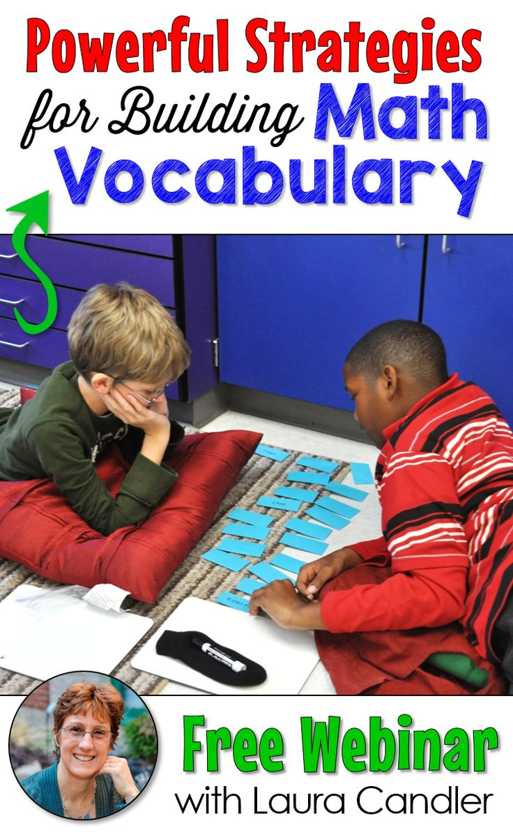 Sign up here to watch a free replay of Laura Candler's webinar, Powerful Strategies for Building Math Vocabulary! This session was jam-packed with easy and fun ways to integrate vocabulary instruction into your math lessons. The best part is that these activities are so engaging that your students won't even know they're learning!