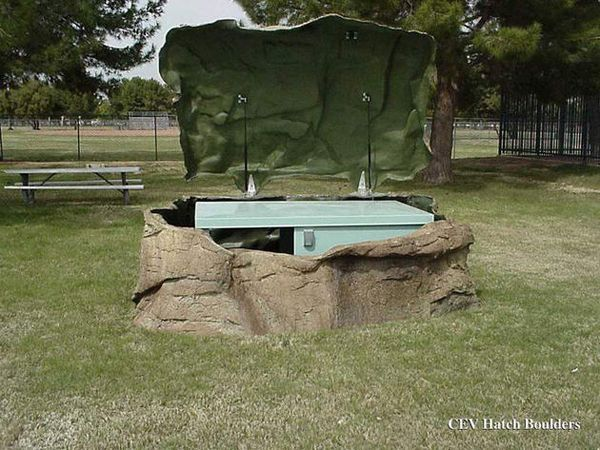 64 best images about storm shelters on pinterest for Hidden storm shelter