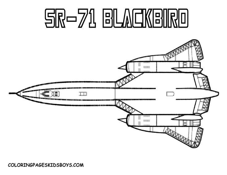 SR71 Blackbird Military Airplane