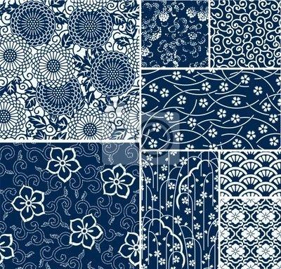 Papier peint traditionnels japonais motifs vecteur sans soudure