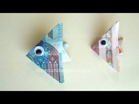 Dollar Bill Origami Fish Tutorial - How to make an Easy Angelfish from Money - $1 Dollar Moneygami - YouTube
