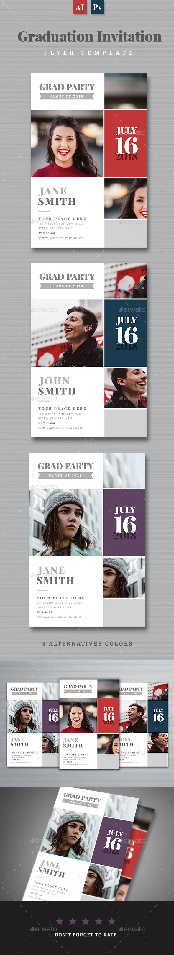 #Graduation Invitation - Invitations #Cards & #Invites