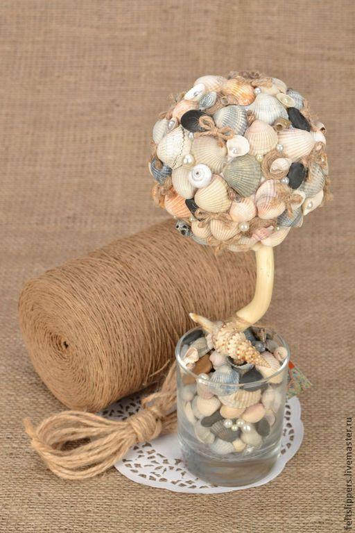 Топиарий ручной работы Морской - Дерево счастья,топиарий ручной работы