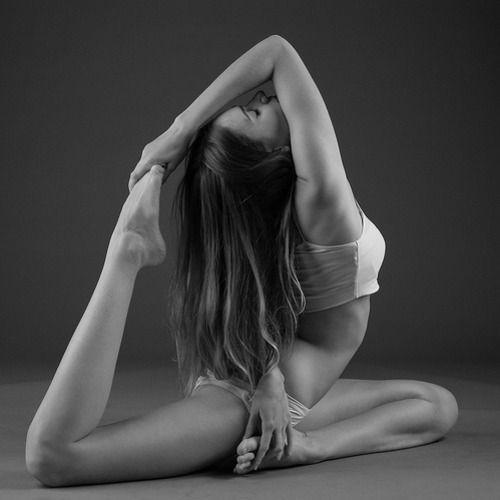Nice black and white photo of a Yoga pose. #yoga #asana #peace