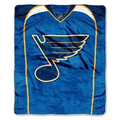 Northwest Co. NHL Blues Jersey Raschel Throw