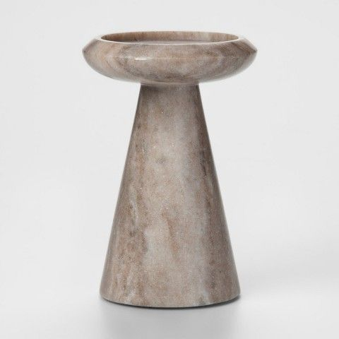 Project 62 Marble Pillar Candle Holder Large - Tan