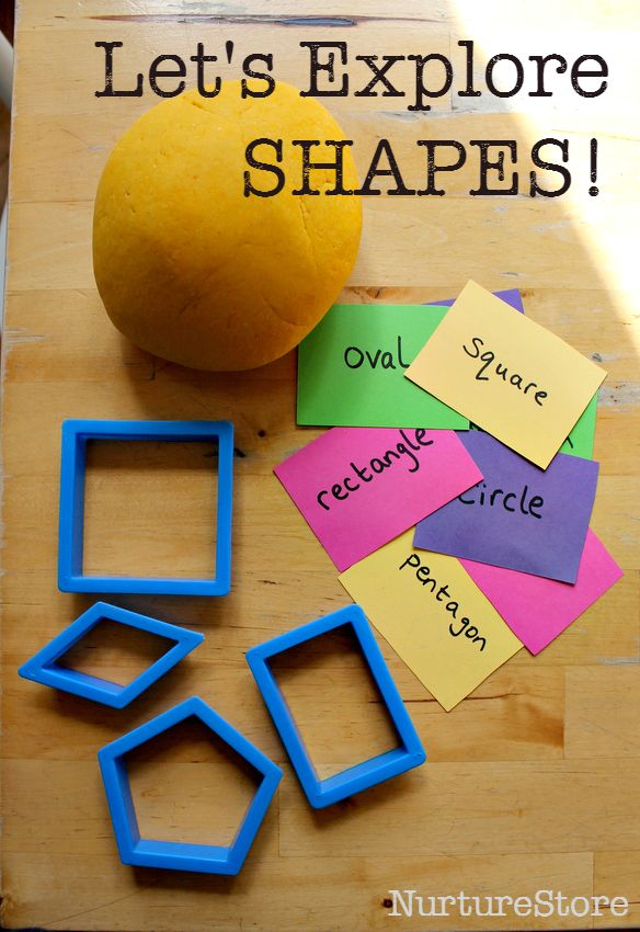 Great ideas to explore shapes using play dough :: multisensory shape activity :: math center using shapes