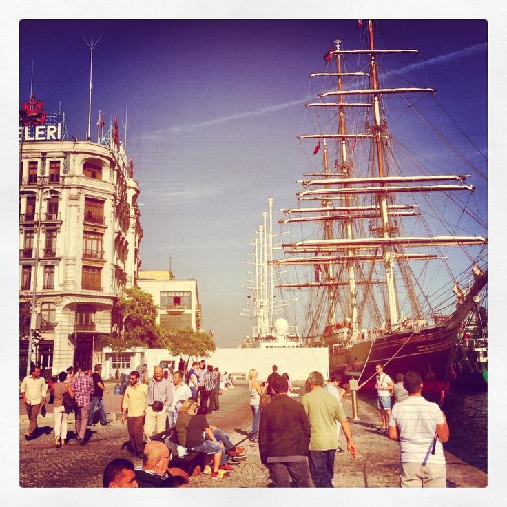 Clipper Stad Amsterdam for SALON/istanbul in Karakoy Harbour 13-21 October