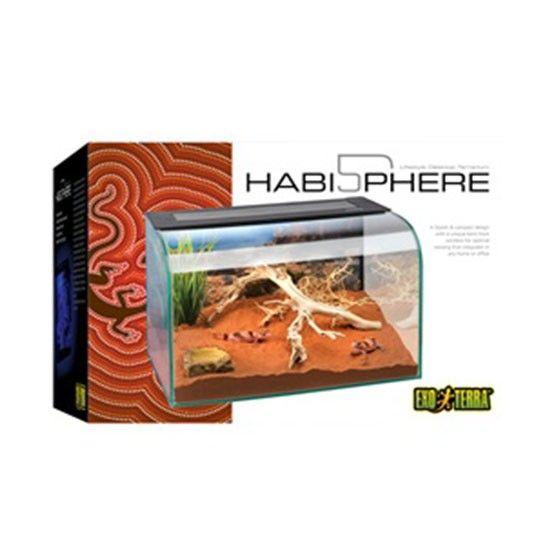 Terrario Habisphere  EXOTERRA El Exo Terra Habisphere es un terrario de cristal compacto y estético, creado para adaptarse a cualquier escritorio o mostrador.